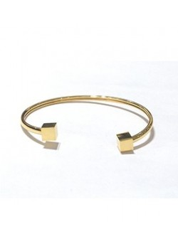 CUBIC GEOMETRIC STAINLESS STEEL CUFF