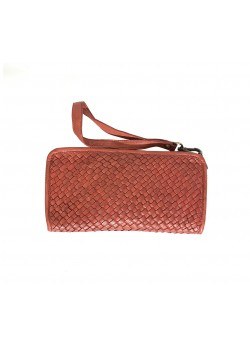 BRAIDED GENUINE WASHED LEATHER WALLET
