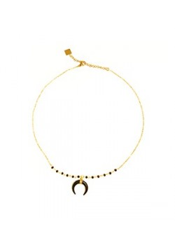 INVERSED MOON GOLD STAINLESS STEEL NECKLACE