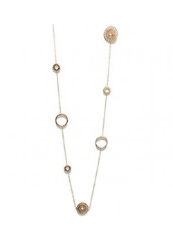 CIRCULAR ARABESQUE LONG STAINLESS STEEL NECKLACE