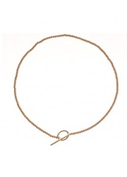 CIRCULAR CLOSURE T SHAPE STAINLESS STEEL METAL PEARL NECKLACE