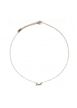 """ROSE GOLD """"LOVE"""" STAINLESS STEEL NECKLACE"""
