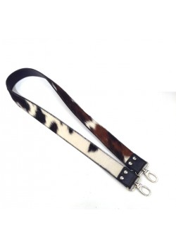 GENUINE LEATHER AND FOAL FUR STRAP