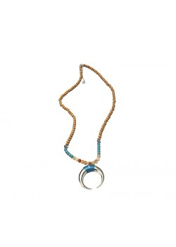 LONG ETHNIC BEADED INVERTED KORN NECKLACE