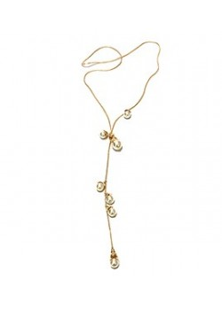 LONG BUD PEARL FLOWER NECKLACE