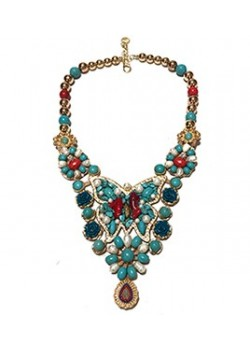 STATEMENT BUTTERFLY FLOWER TURQUOISE NECKLACE