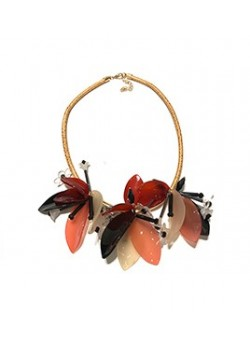 ROPE FLOWER STATEMENT NECKLACE