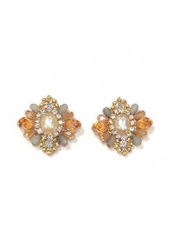 EARRING PAVEE CRYSTAL STRASS