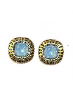 EARRING  CRYSTAL BUTTON