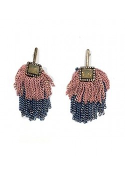 EARRING CRYSTAL DROP OF CHAIN