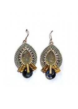 EARRING CRYSTAL CRYSTAL DROP OF CHAIN