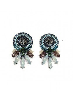 EARRING CRYSTALS AND EMBROIDERY