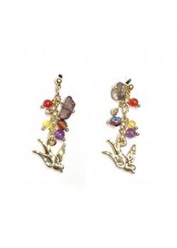 EARRING PEARL FLOWER CLUSTERS