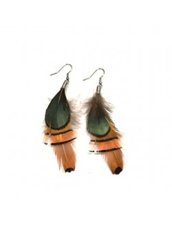EARRING NATURAL FEATHER