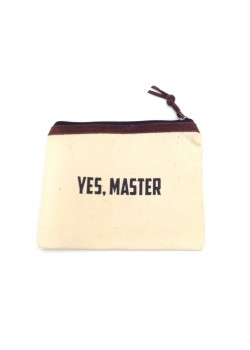 POUCH COTTON: YES MASTER