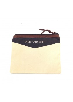 POUCH COTTON: GIVE AND SHIT