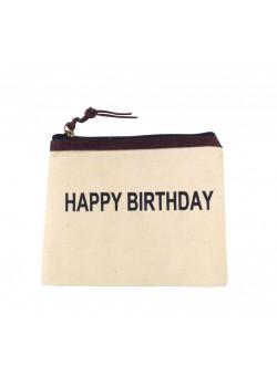 POUCH COTTON: HAPPY BIRTHDAY