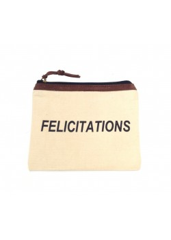 POUCH COTTON: FELICITATIONS