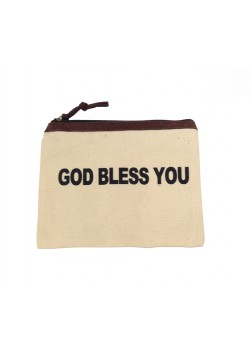 POUCH COTTON: GOD BLESS YOU