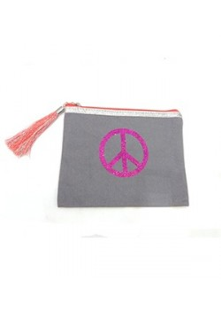 POUCH COTTON: PEACE AND LOVE