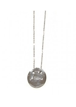 NECKLACE ROUND ENGRAVED  : JE T'AIME