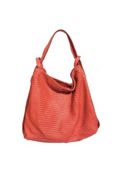 2 IN 1 WASHED BRAIDED LEATHER BACKPACK