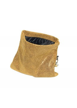 MINIMALIST FOLDABLE SPOTTED LEATHER CLUTCH BAG