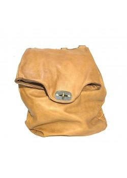 SOFT WASHED GENUINE LEATHER FLAP BACKPACK