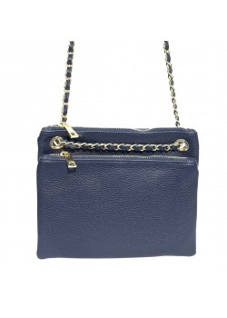 5 COMPARTMENT CLUTCH CROSSBODY CHAIN LEATHER BAG