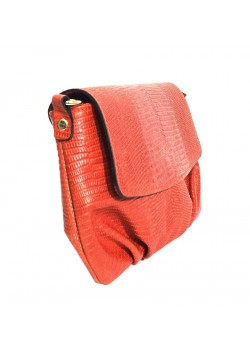 LIZARD EMBOSSED LEATHER CLUTCH BAG