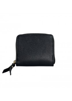 GRAINED LEATHER SQUARE WALLET