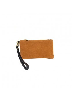 FLAT CASE SUEDE LEATHER POUCH