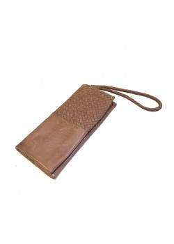 SOFT FUNCTIIONAL WASHED GENUINE LEATHER WALLET WITH FLANGE