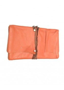 LEATHER WALLET CHAIN POUCH