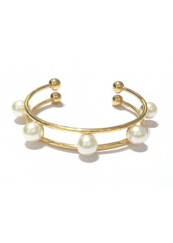 5 PEARL STAINLESS STEEL CUFF