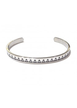 ENAMELLED STAINLESS STEEL INDIAN PATTERN CUFF