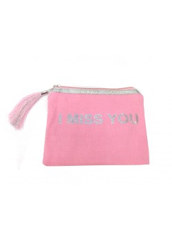 POUCH COTTON: I MISS YOU