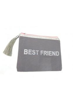 POUCH COTTON: BEST FRIEND