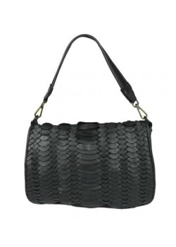MULTI-COMPARTMENTS BRAIDED WASHED GENUINE LEATHER BAG