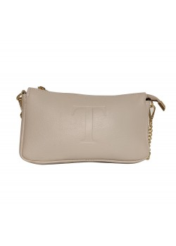 TASSEL STUDDED LEATHER CLUTCH