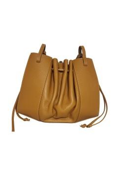 REPTILE LEATHER BUCKET BAG
