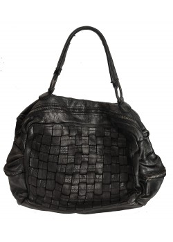 SPACIOUS 3 ROW WASHED GENUINE LEATHER BAG