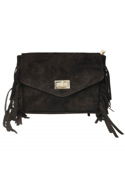 LEATHER FRING BAG SUEDE